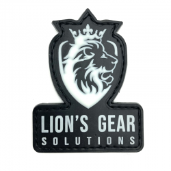 Lion's Gear Solutions logo patch on Glow in the Dark