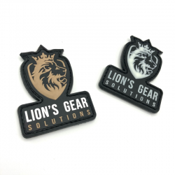 Lion's Gear Solutions logo patches